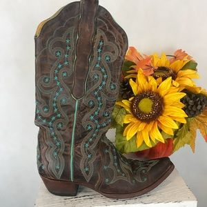 Old gringo leather cowgirl boots